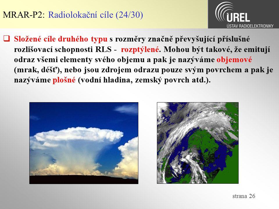 MRAR-P2: Radiolokační cíle (24/30)
