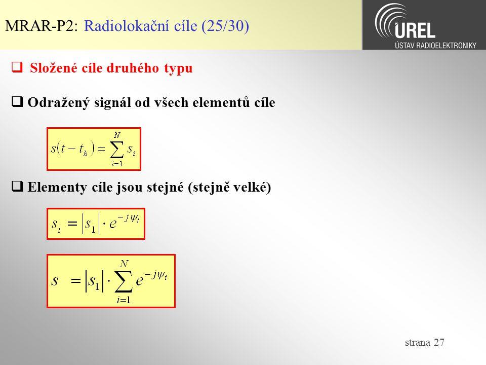 MRAR-P2: Radiolokační cíle (25/30)