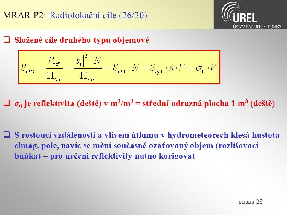 MRAR-P2: Radiolokační cíle (26/30)