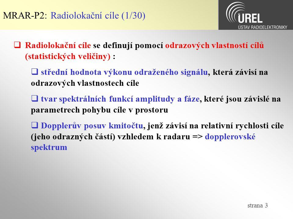 MRAR-P2: Radiolokační cíle (1/30)