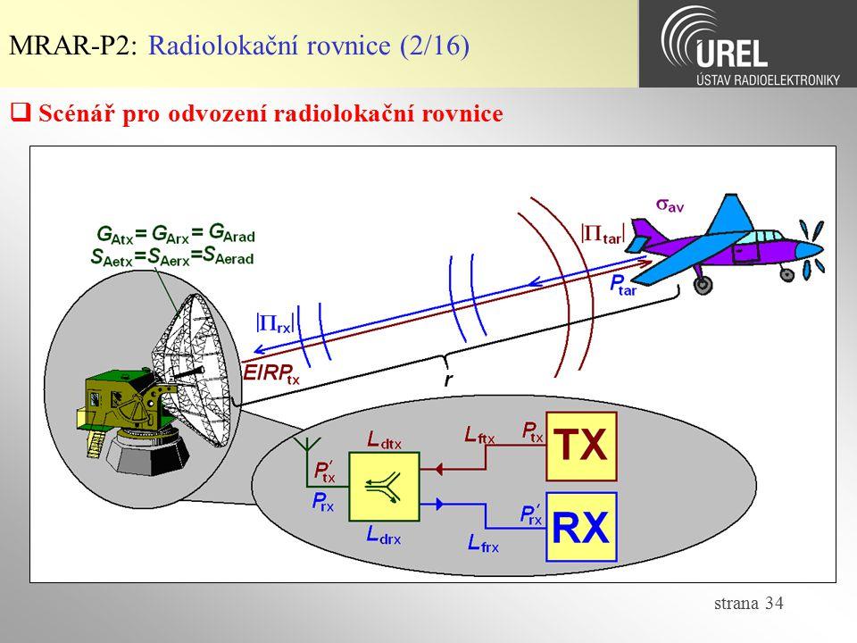 MRAR-P2: Radiolokační rovnice (2/16)