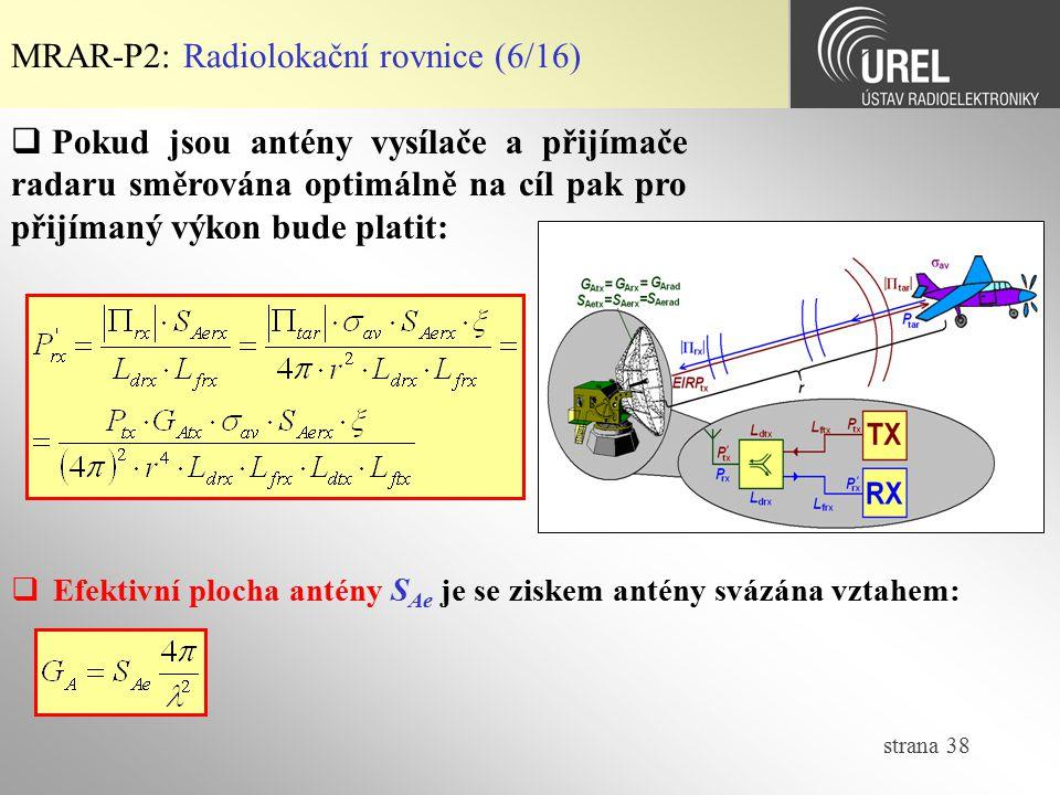 MRAR-P2: Radiolokační rovnice (6/16)