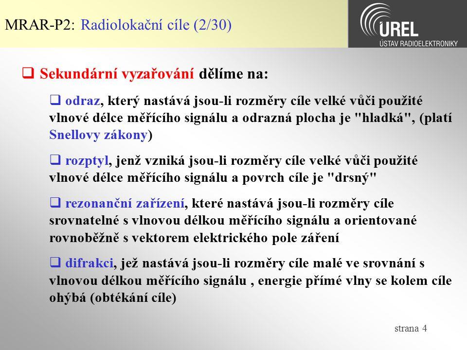 MRAR-P2: Radiolokační cíle (2/30)