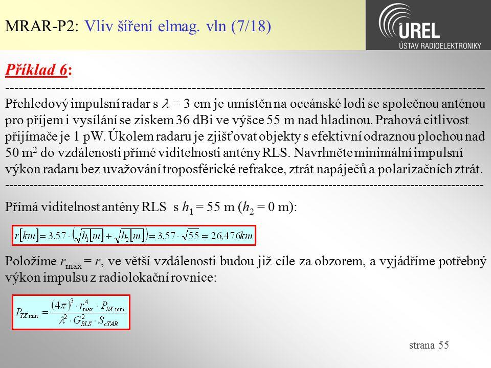 MRAR-P2: Vliv šíření elmag. vln (7/18)