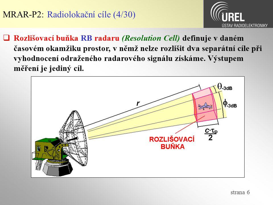 MRAR-P2: Radiolokační cíle (4/30)