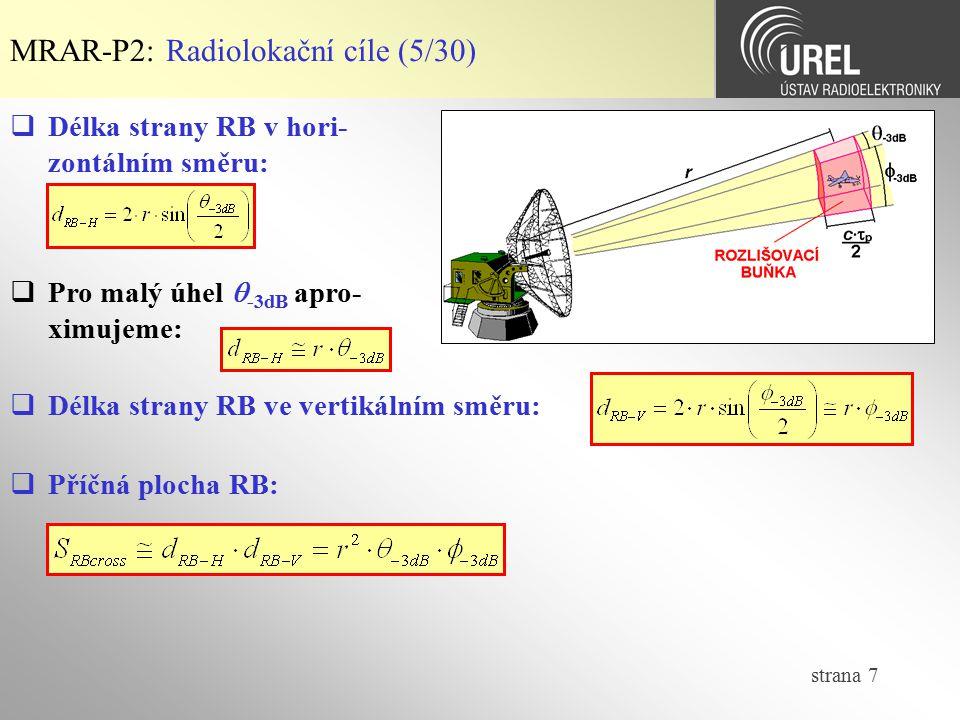 MRAR-P2: Radiolokační cíle (5/30)