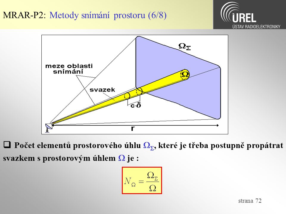 MRAR-P2: Metody snímání prostoru (6/8)