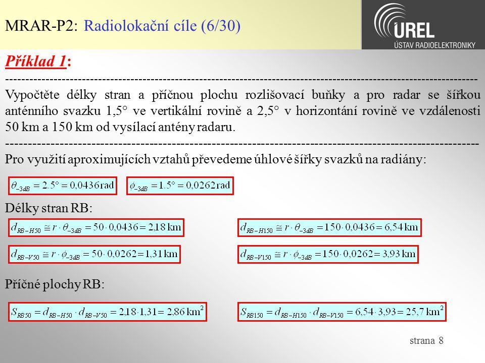 MRAR-P2: Radiolokační cíle (6/30)