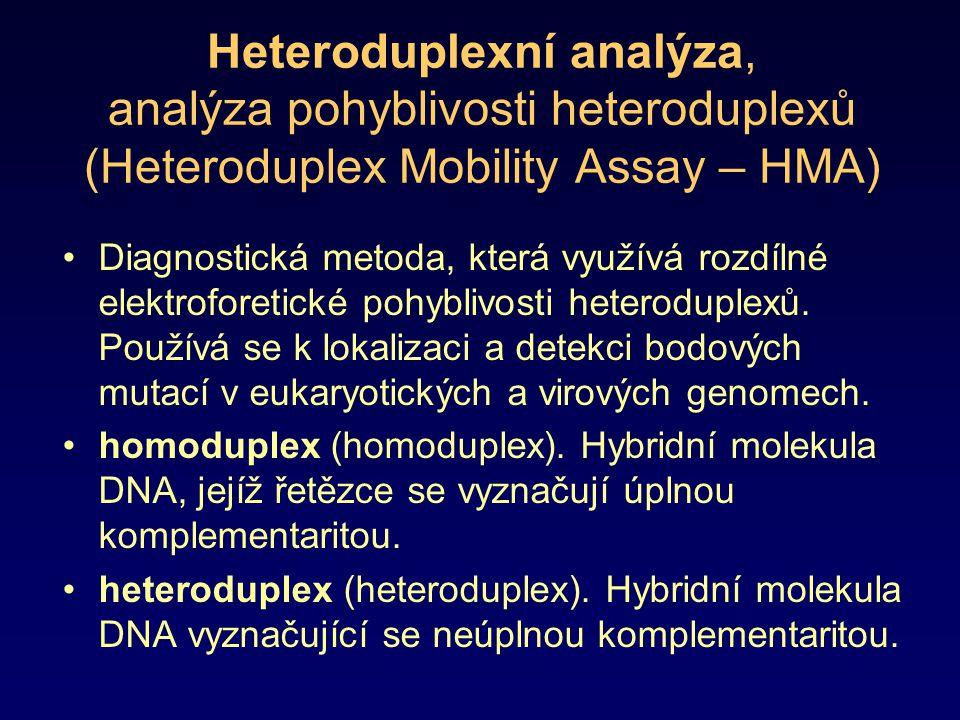 Heteroduplexní analýza, analýza pohyblivosti heteroduplexů (Heteroduplex Mobility Assay – HMA)