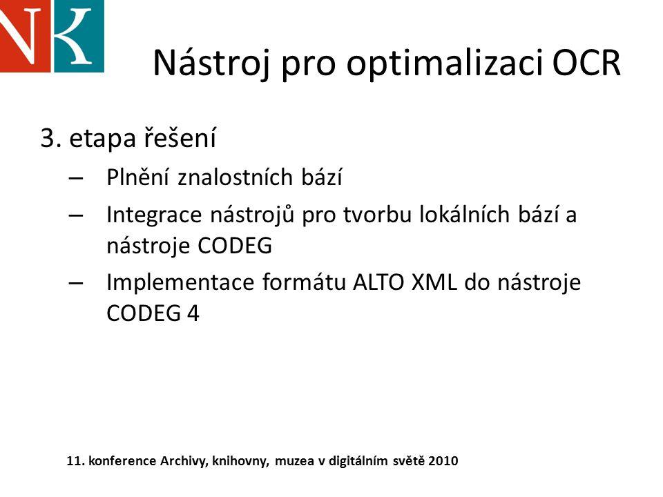 Nástroj pro optimalizaci OCR