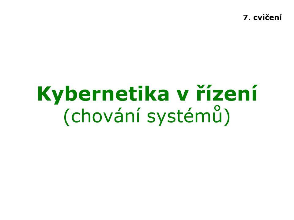 Kybernetika v řízení (chování systémů)