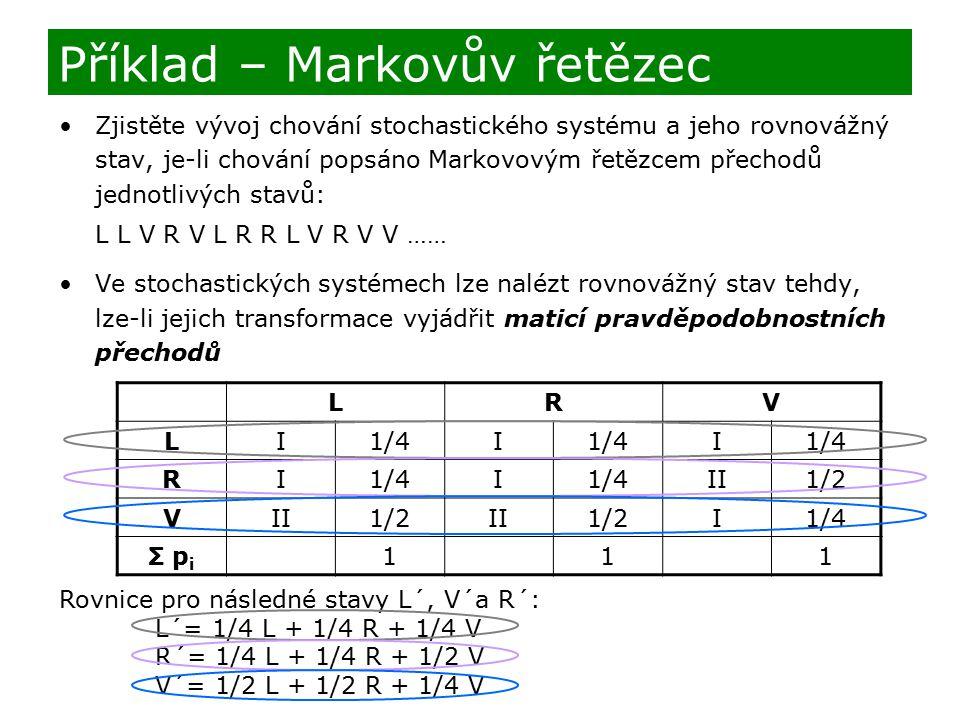 Příklad – Markovův řetězec