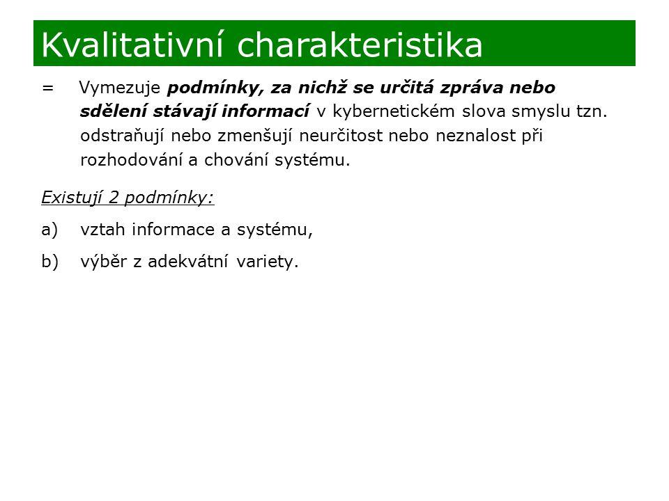 Kvalitativní charakteristika