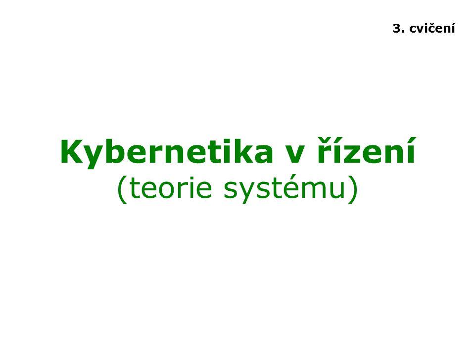 Kybernetika v řízení (teorie systému)