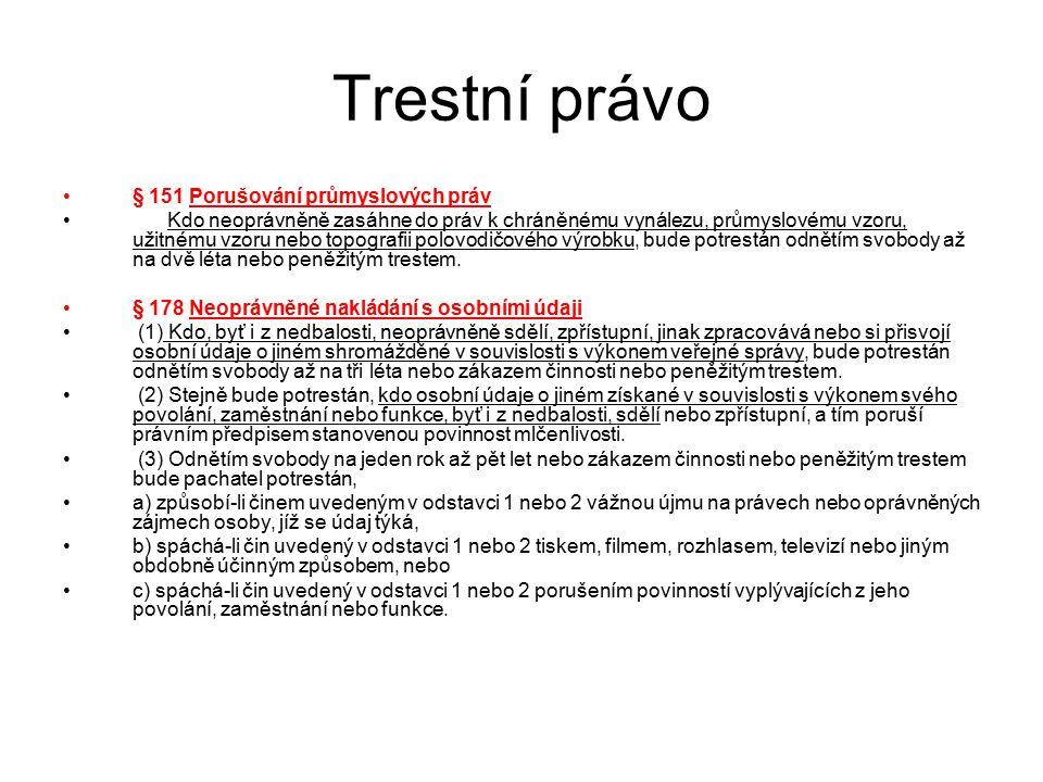 Trestní právo 0) Uvítání a představení své osoby a studentů