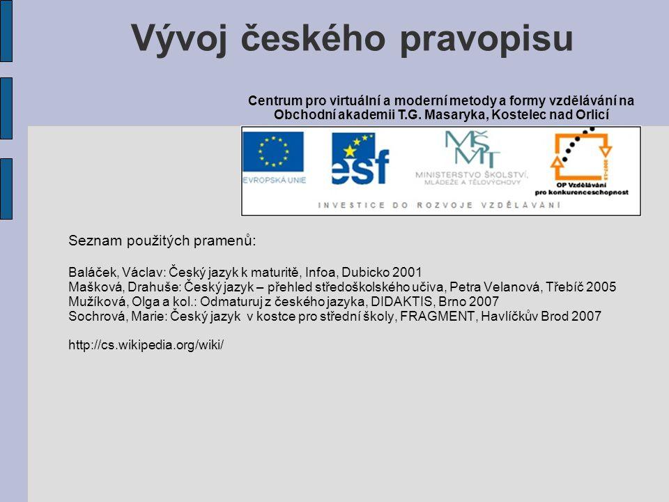 Vývoj českého pravopisu