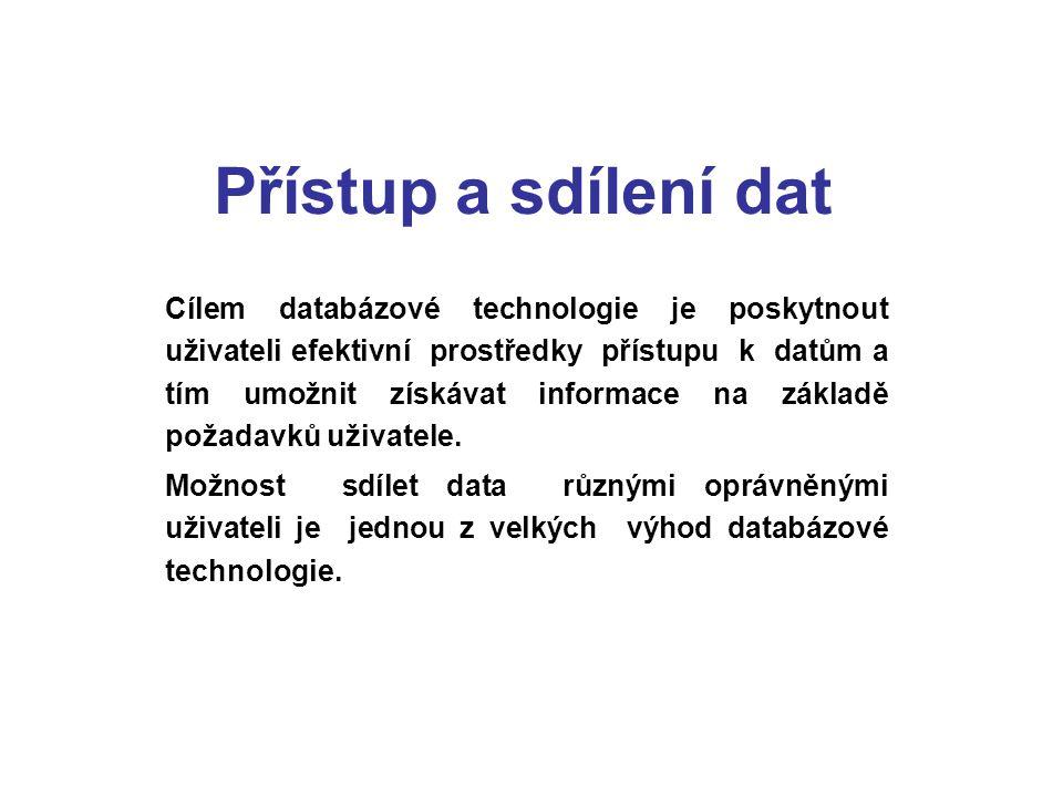 Přístup a sdílení dat