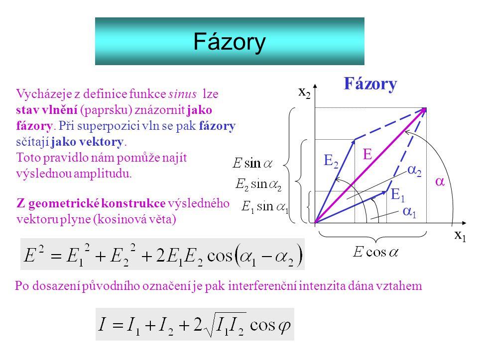 Fázory Fázory x2 E E2 a2 a E1 a1 x1