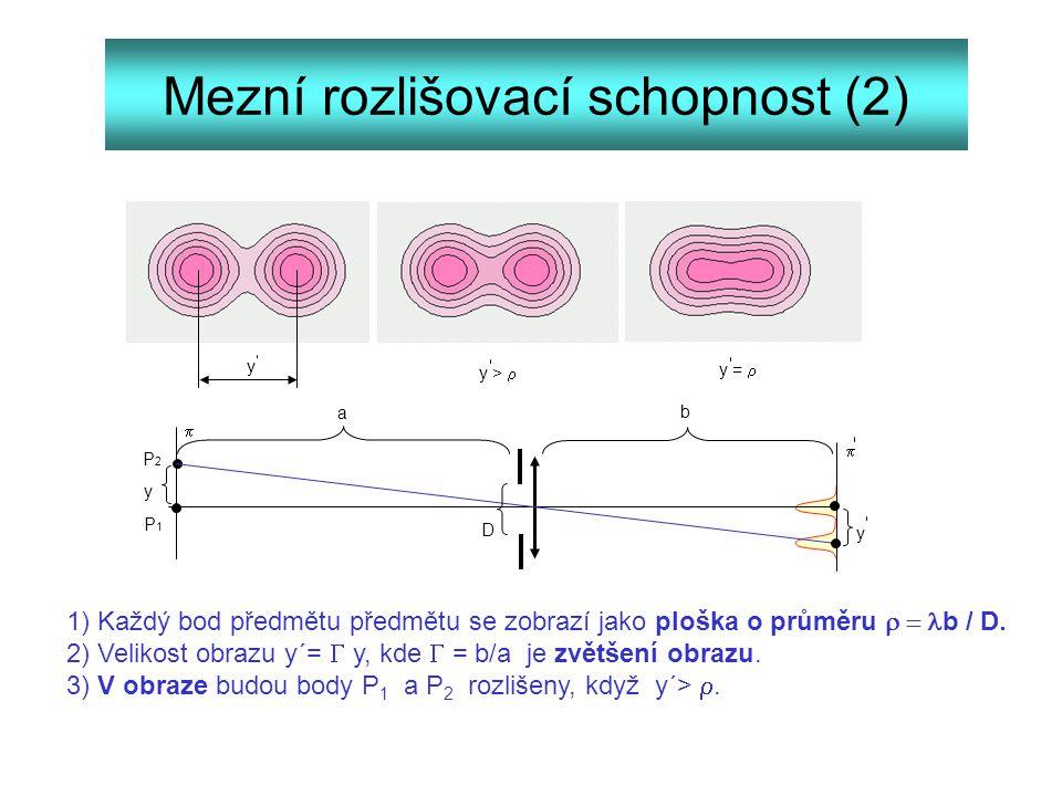 Mezní rozlišovací schopnost (2)