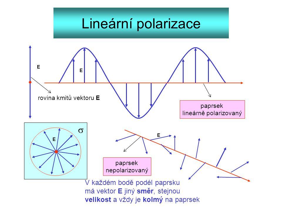 lineárně polarizovaný