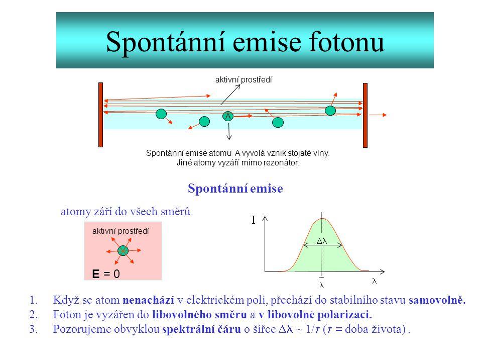 Spontánní emise fotonu