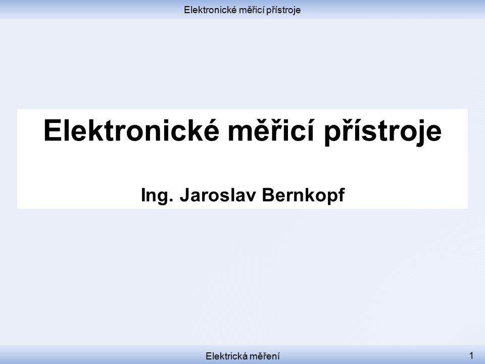 Elektronické měřicí přístroje