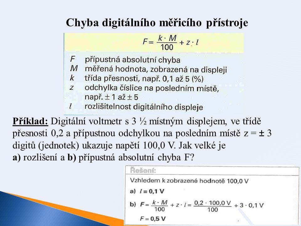 Chyba digitálního měřicího přístroje