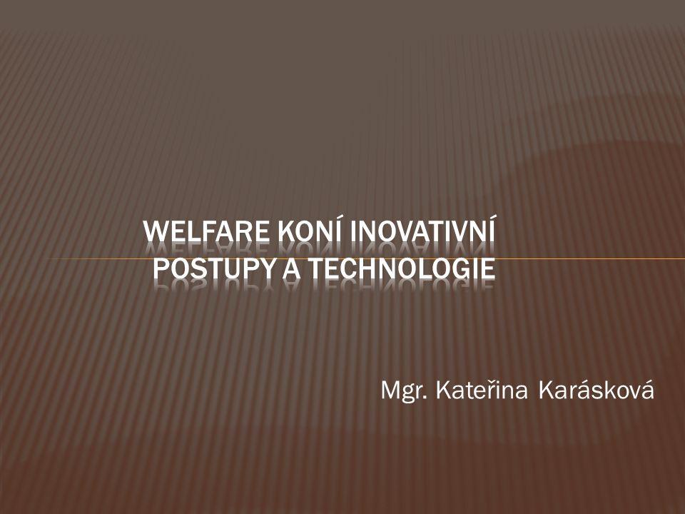 Welfare koní inovativní postupy a technologie