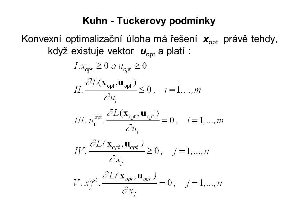 Kuhn - Tuckerovy podmínky