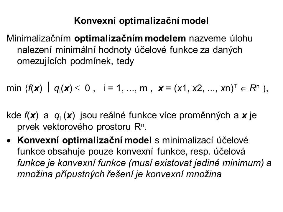 Konvexní optimalizační model