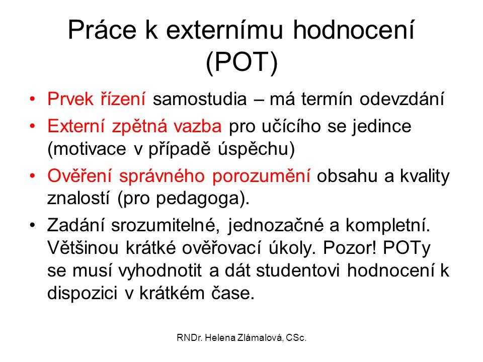 Práce k externímu hodnocení (POT)