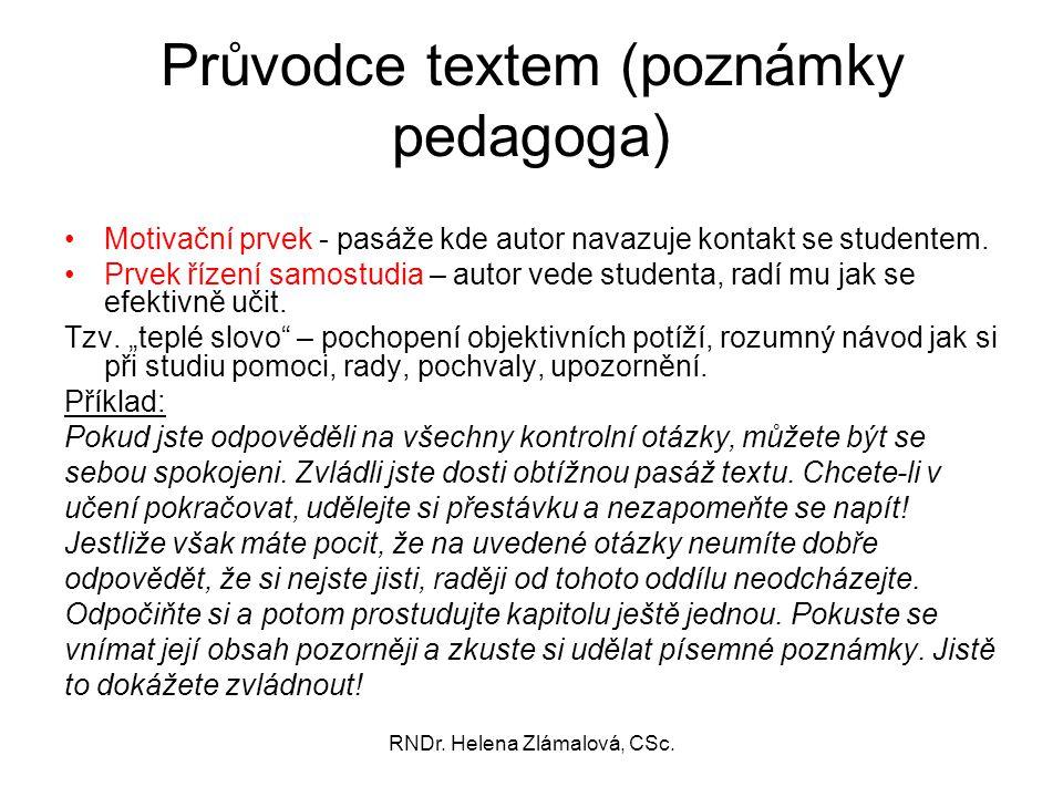 Průvodce textem (poznámky pedagoga)