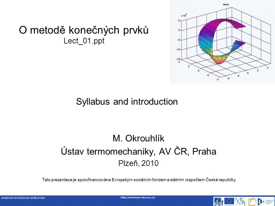 O metodě konečných prvků Lect_01.ppt