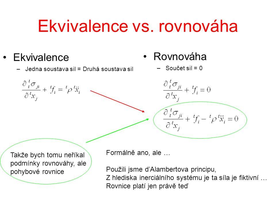 Ekvivalence vs. rovnováha