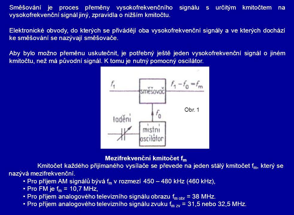 Mezifrekvenční kmitočet fm