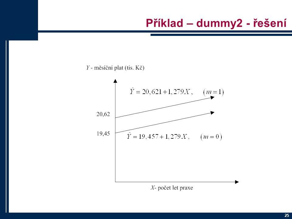 Příklad – dummy2 - řešení