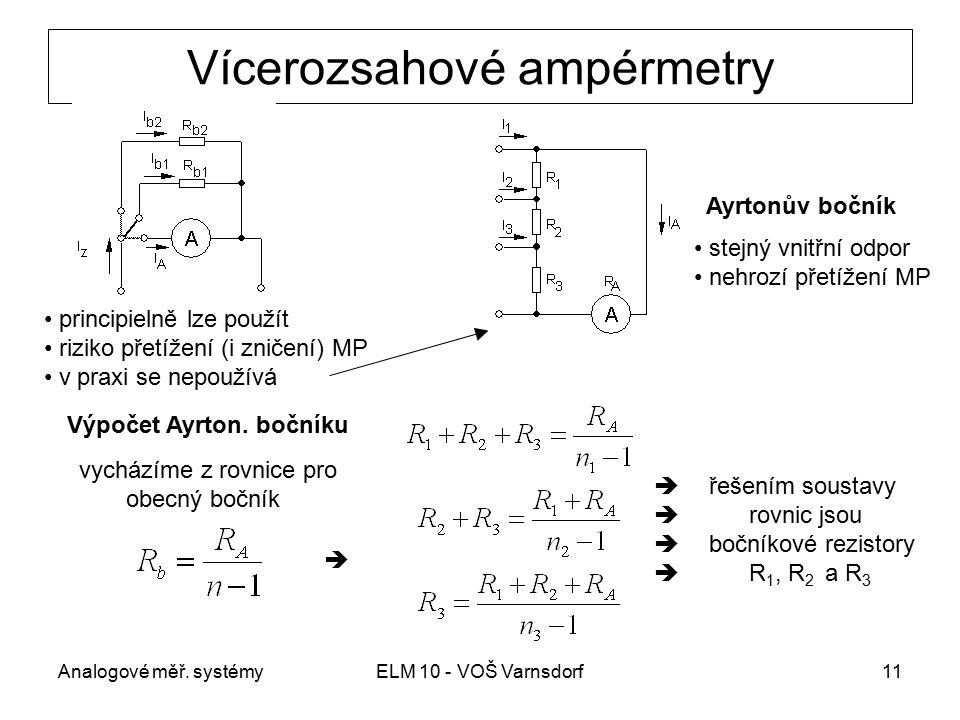 Vícerozsahové ampérmetry