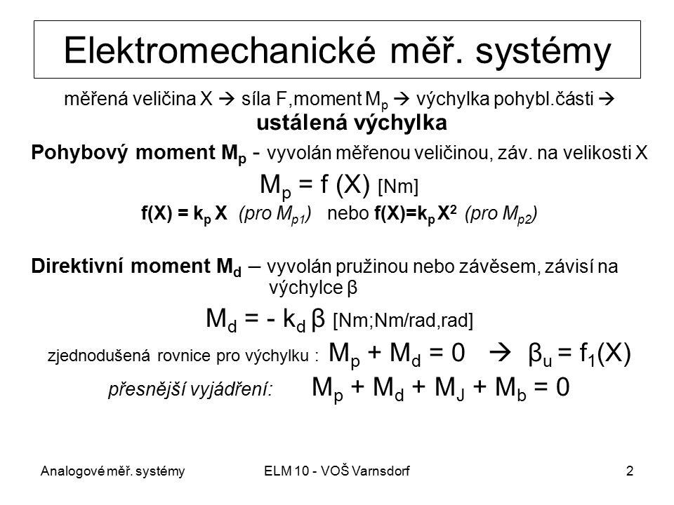 Elektromechanické měř. systémy