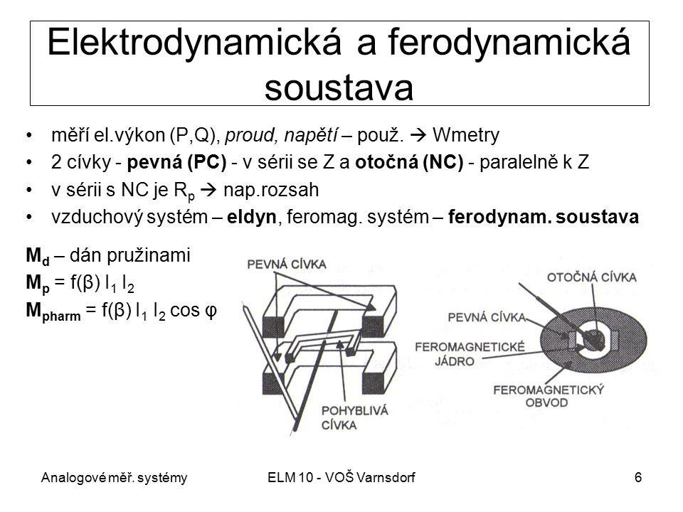 Elektrodynamická a ferodynamická soustava