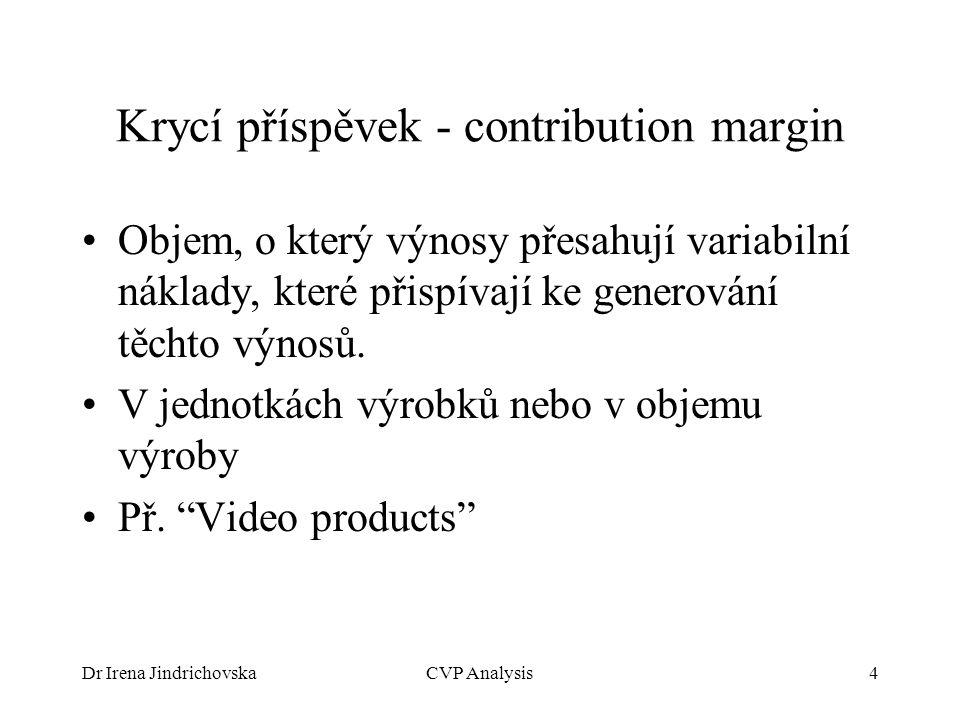 Krycí příspěvek - contribution margin