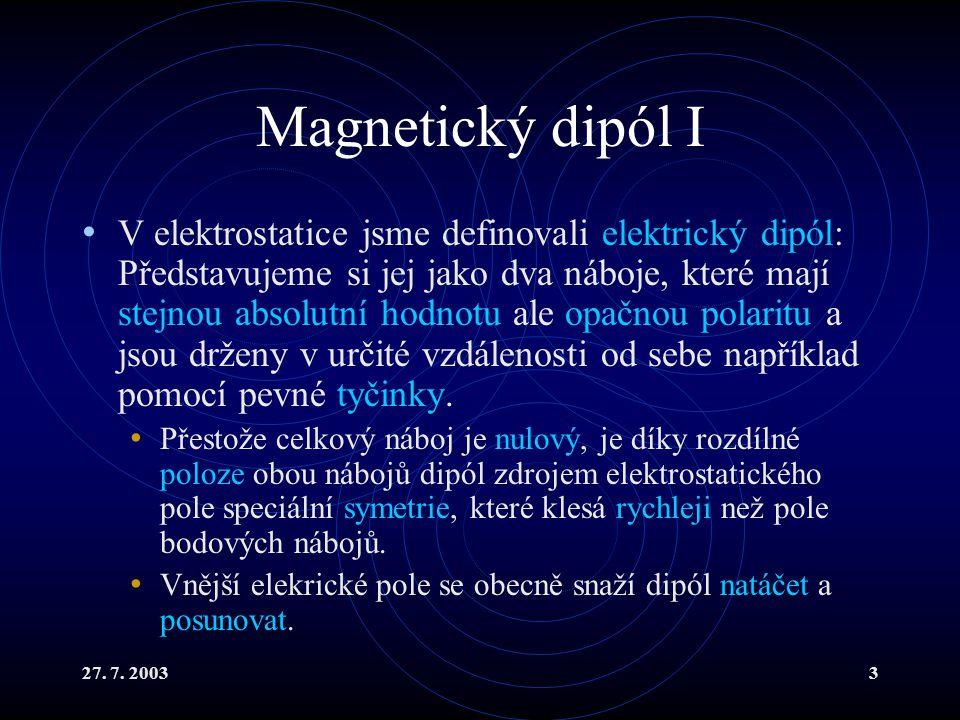 Magnetický dipól I