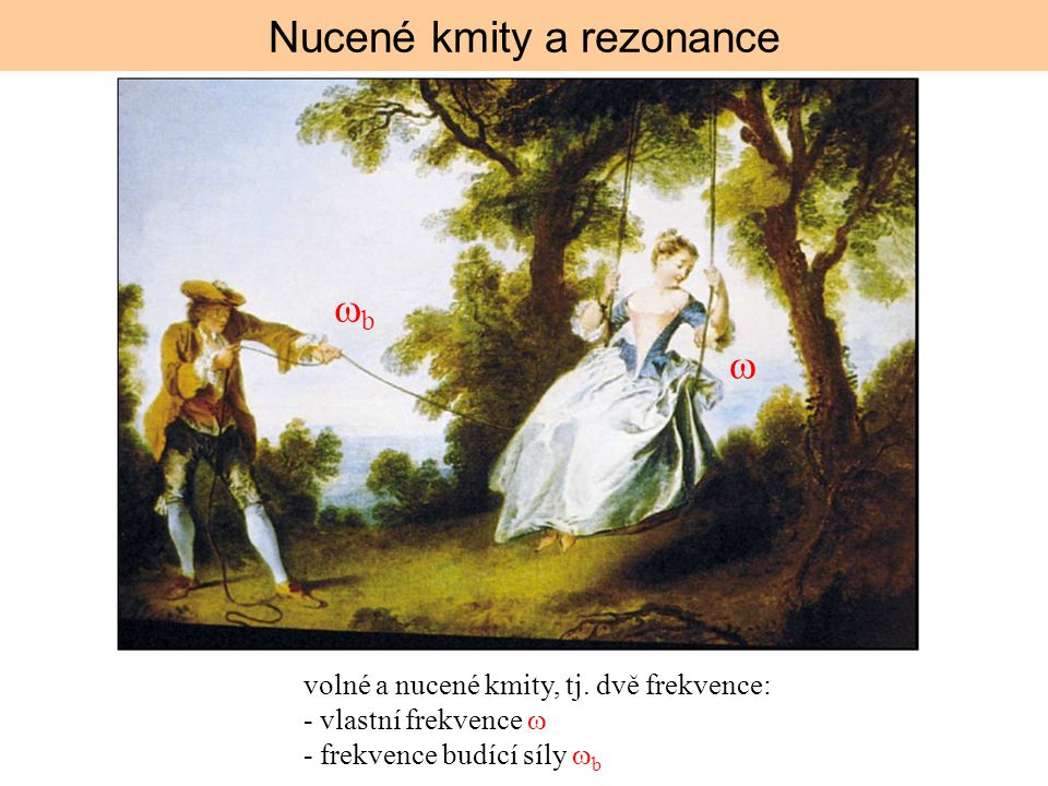 Nucené kmity a rezonance