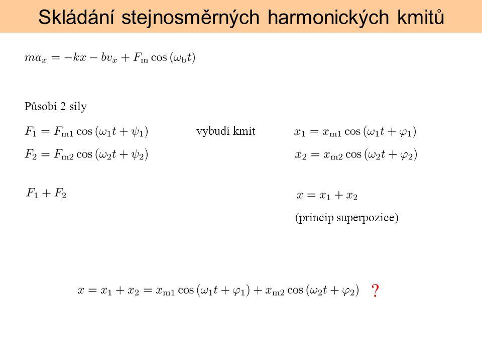Skládání stejnosměrných harmonických kmitů