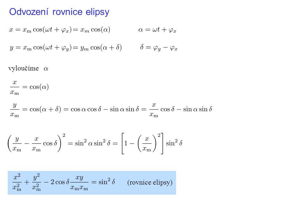 Odvození rovnice elipsy