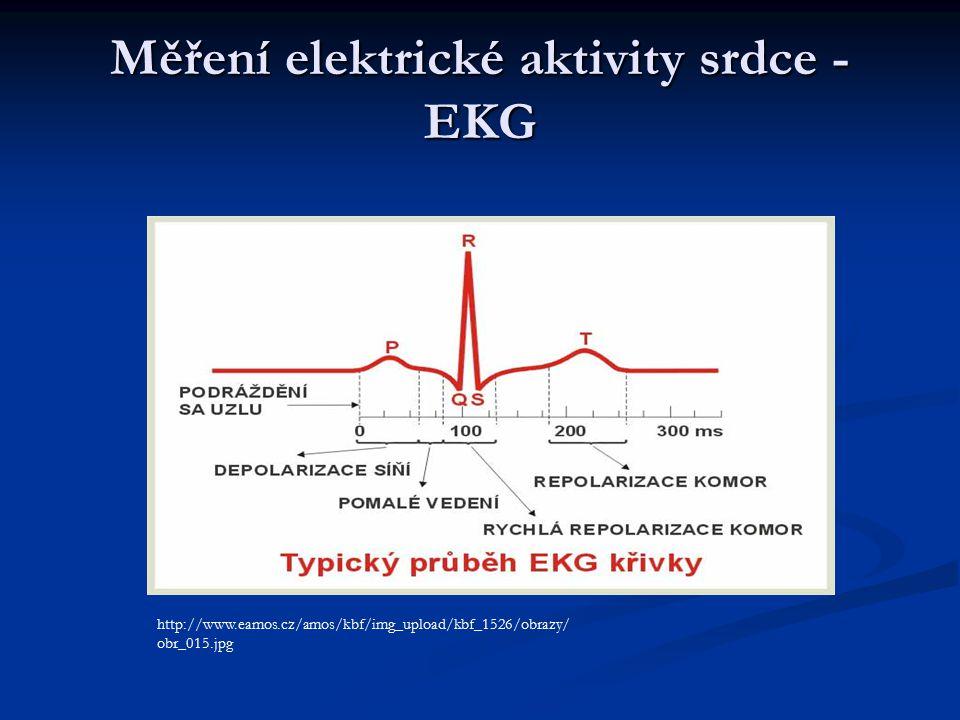 Měření elektrické aktivity srdce - EKG