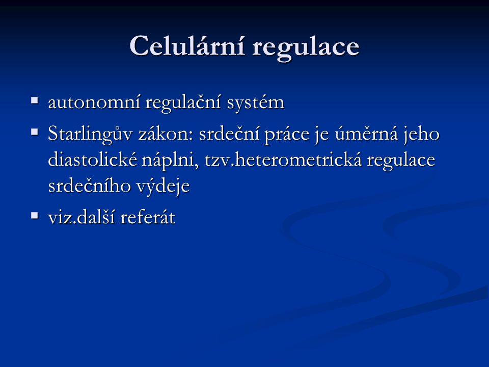 Celulární regulace autonomní regulační systém