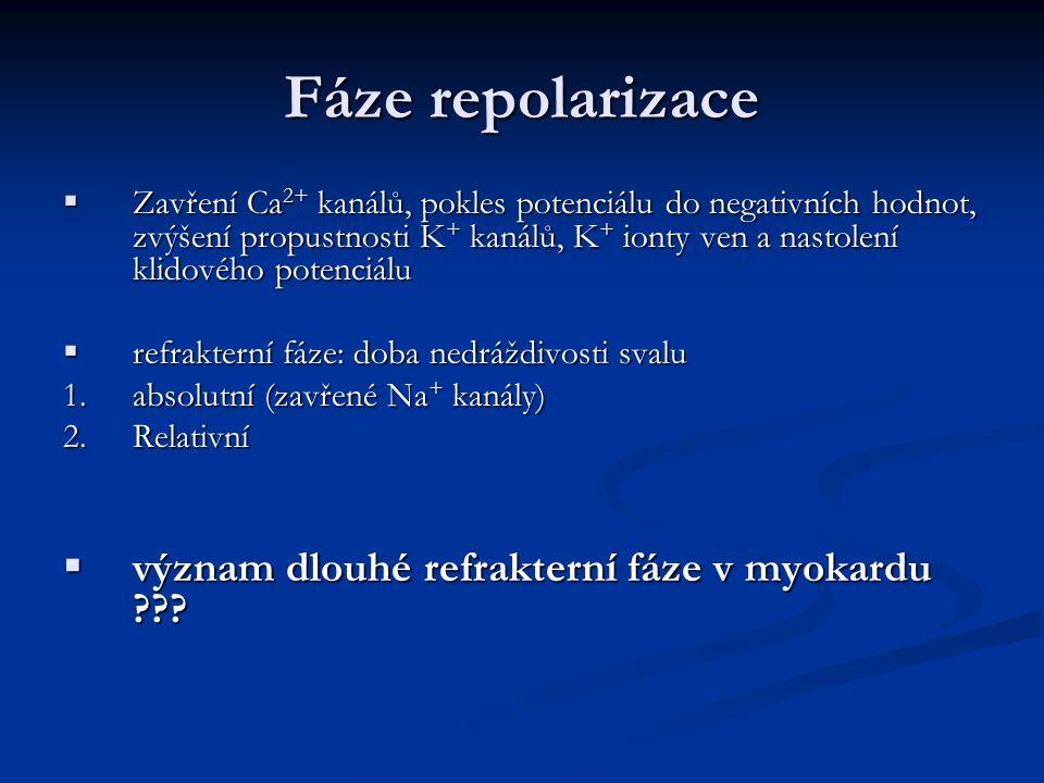 Fáze repolarizace význam dlouhé refrakterní fáze v myokardu