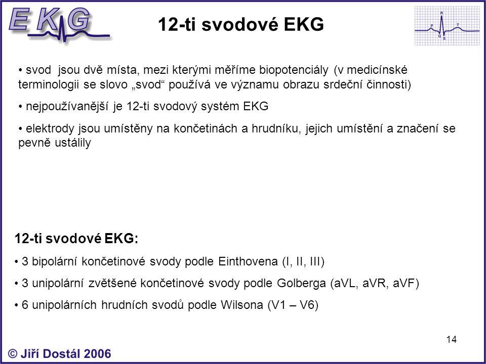12-ti svodové EKG 12-ti svodové EKG:
