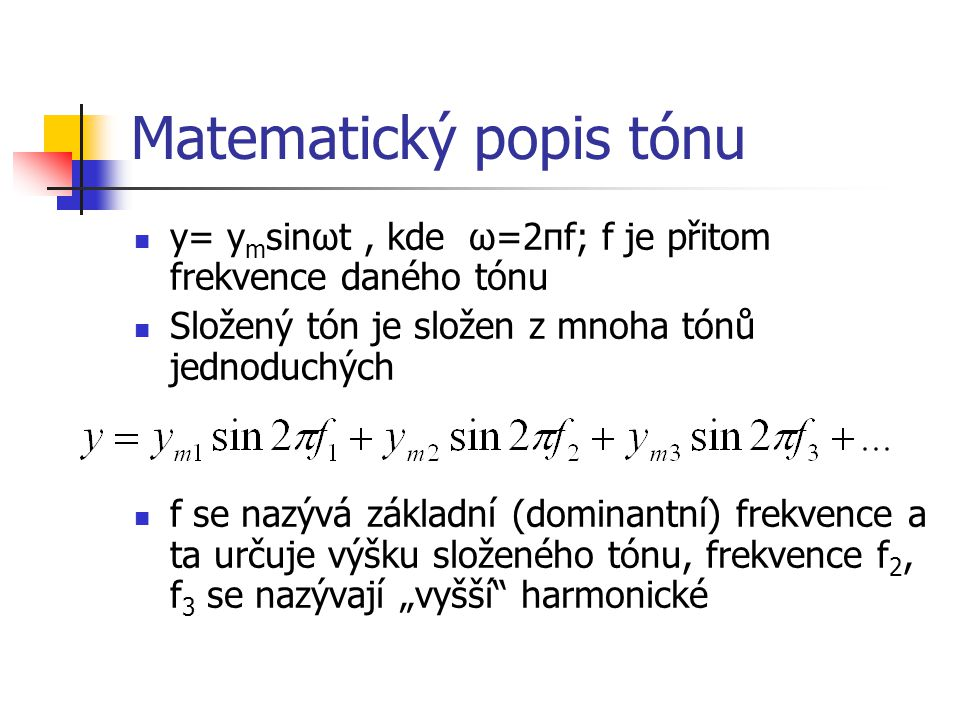 Matematický popis tónu