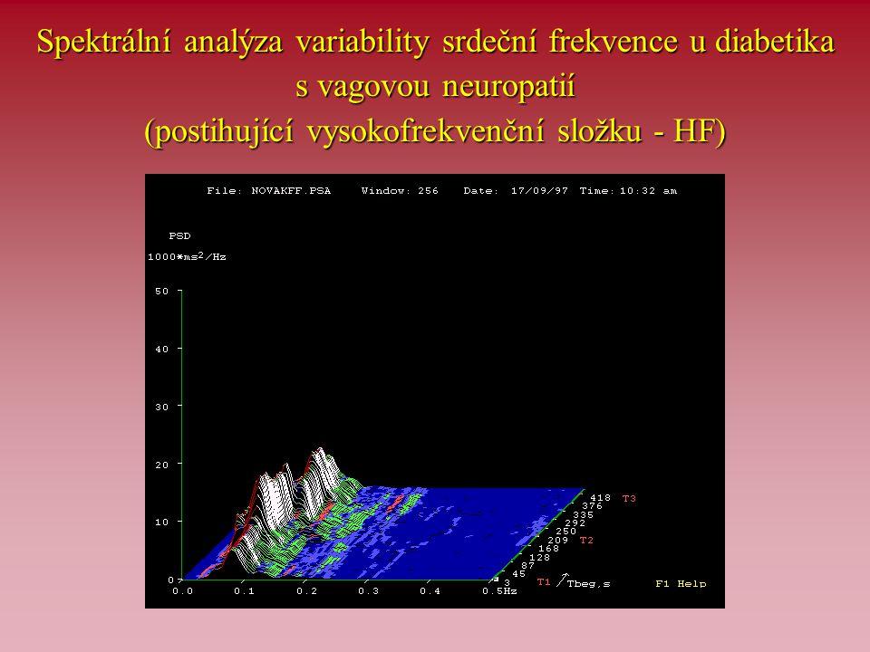 Spektrální analýza variability srdeční frekvence u diabetika